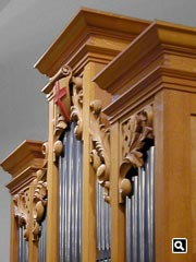 Upper case carvings