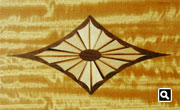 Inlay in the music rack